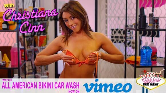 Bikini car video wash