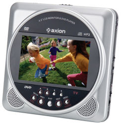 Axion DVDMan portable DVD player with 4.2 inch screen